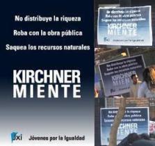 """Campaña Nacional: """"Kirchner Miente"""", en Córdoba."""