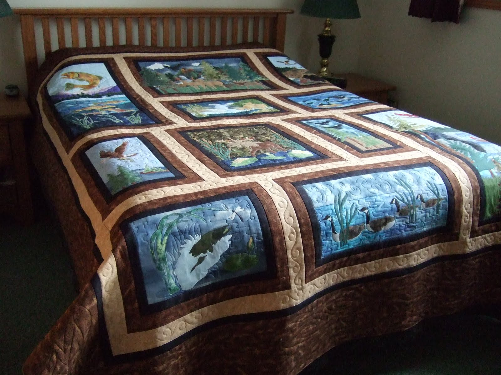 Tamarack Shack: Wildlife Quilt