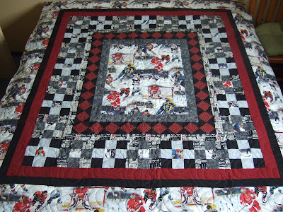 Tamarack Shack: Hockey Quilt : hockey quilt patterns - Adamdwight.com