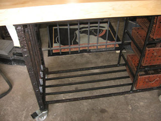 black dog salvage architectural antiques amp custom high iron kitchen island table at 1stdibs