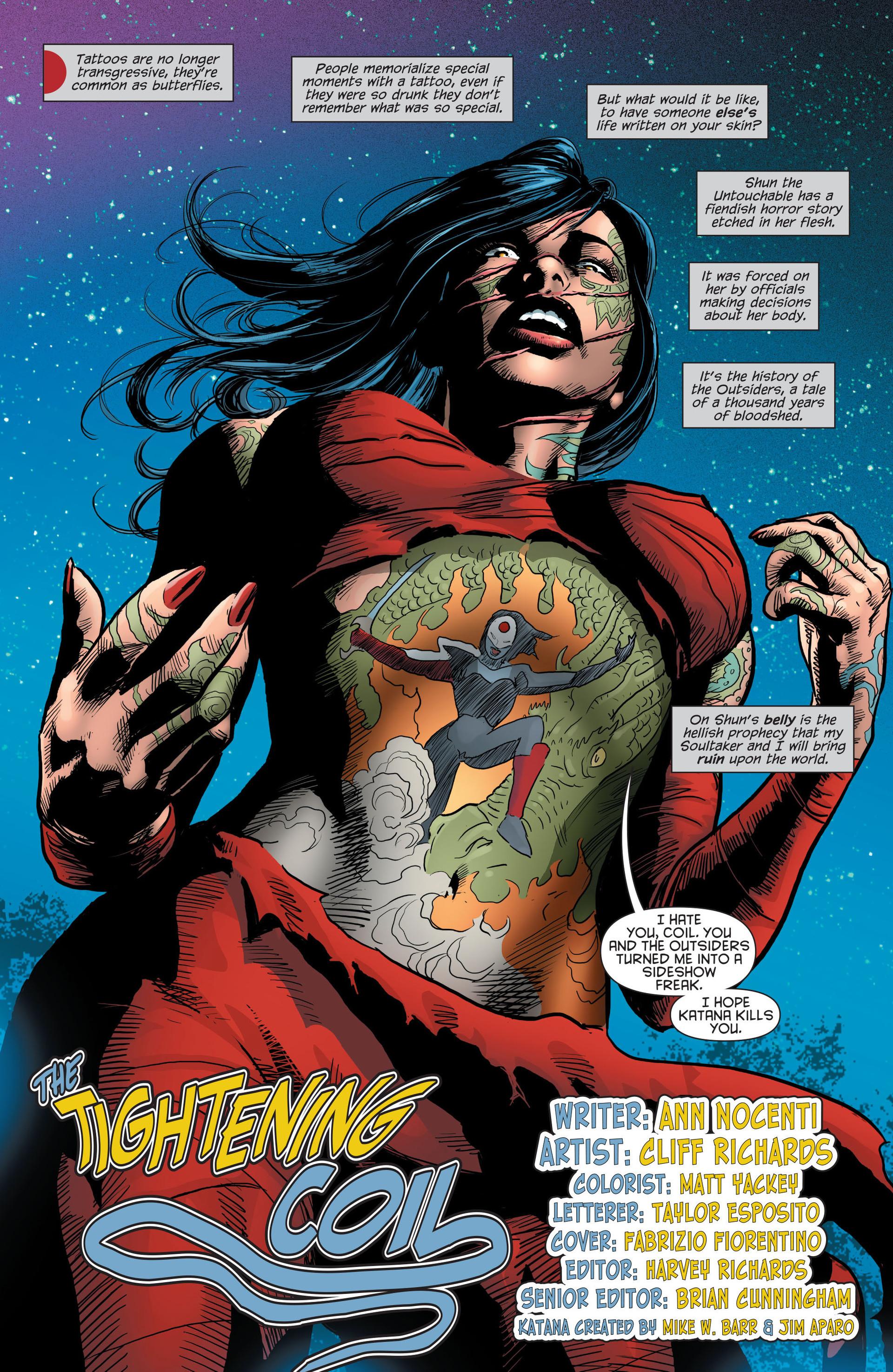 Read online Katana comic -  Issue #8 - 2