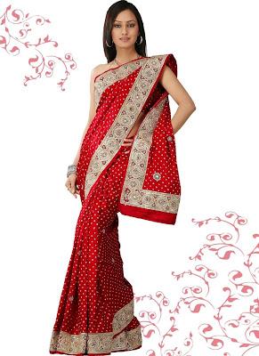 *~Sarees~* Red-designer-saree
