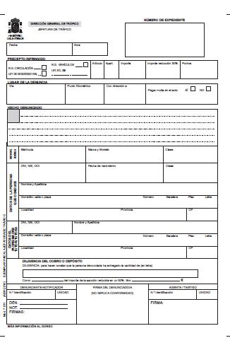 formulario alegaciones:
