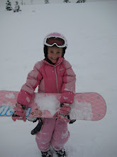 Ashley first time snow boarding!