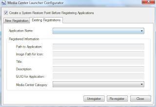 Media Center Configurator Edit Tab