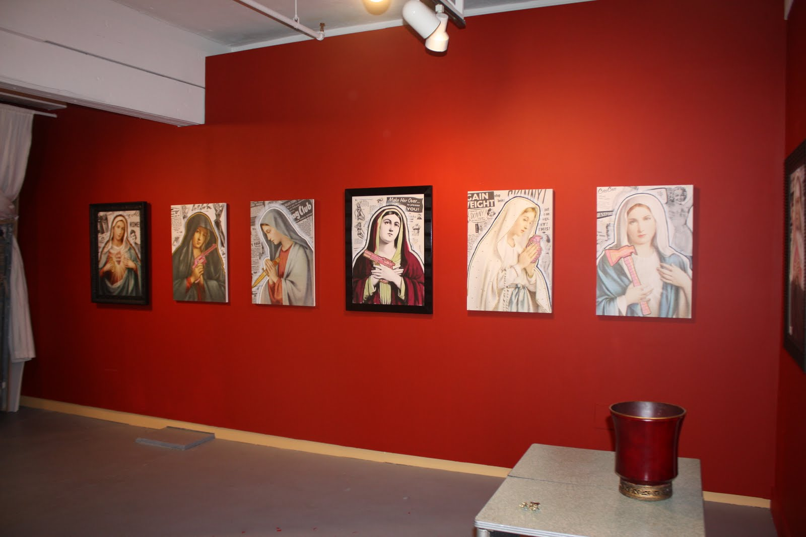 Cool The Virgins on the Red Wall at the Ghost Gallery in Seattle