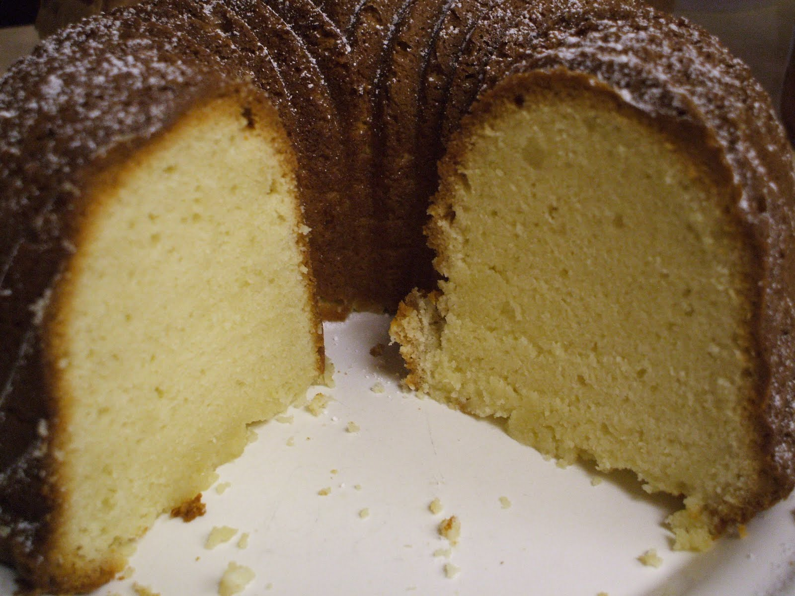 Frugal Antics of a Harried Homemaker: Cream Cheese Pound Cake