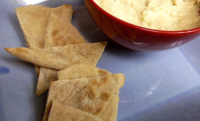 Homemade Pita Crisps and Hummus