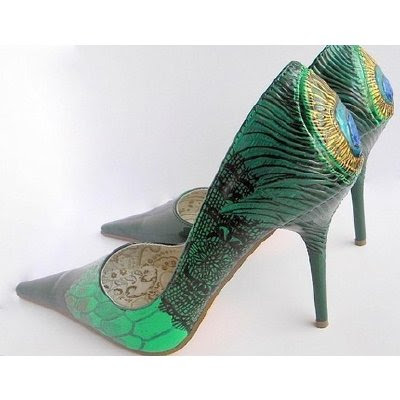 Python Skin Victoria Peacock pumps Something Blue Loubi 39s