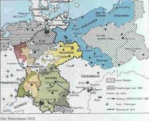Rheinbund in 1812