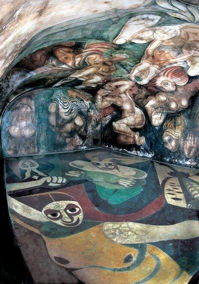 La espina roja inaugurado el mural restaurado de for El mural de siqueiros