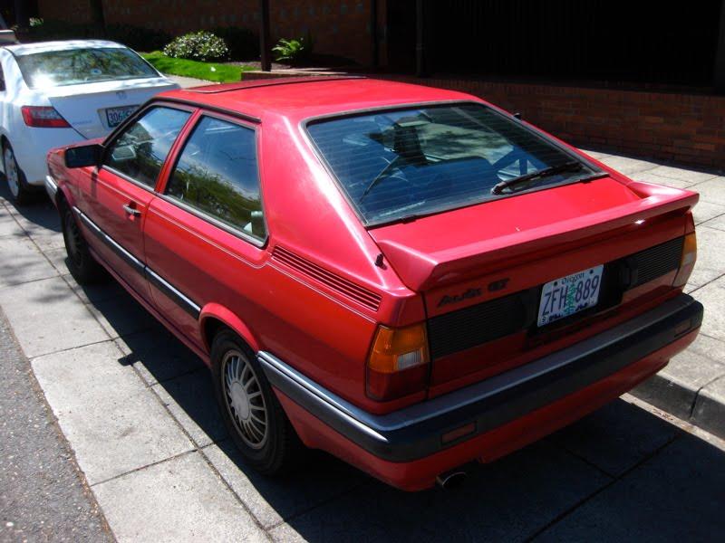 old parked cars 1985 audi coupe gt. Black Bedroom Furniture Sets. Home Design Ideas
