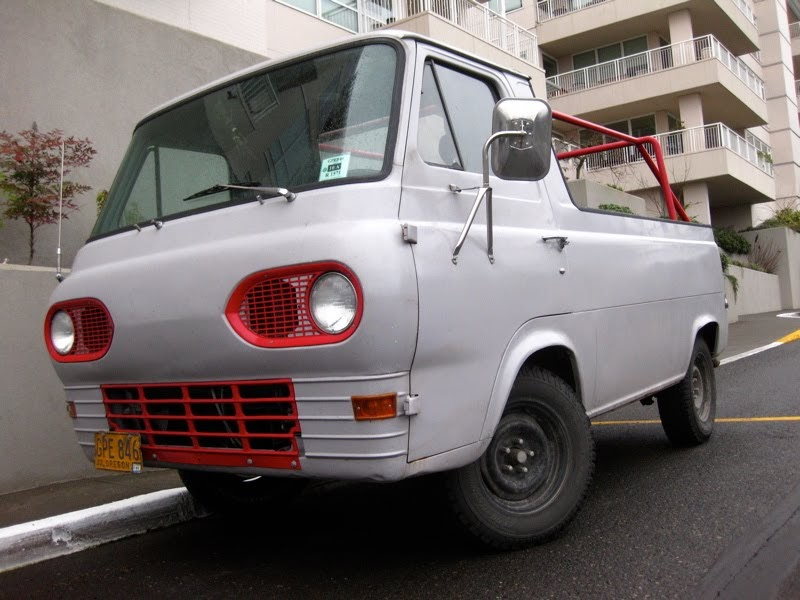old parked cars badgeless 1961 ford econoline 6 door pickup. Black Bedroom Furniture Sets. Home Design Ideas