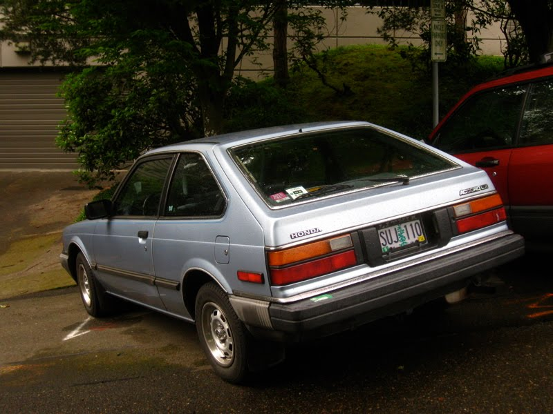 OLD PARKED CARS.: 1983 Honda Accord Hatchback.