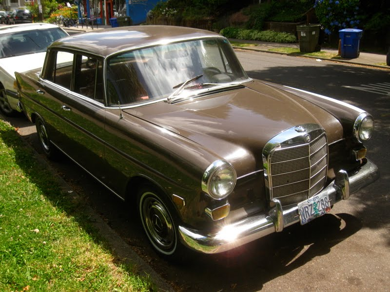 old parked cars 1966 mercedes benz 200 diesel sedan