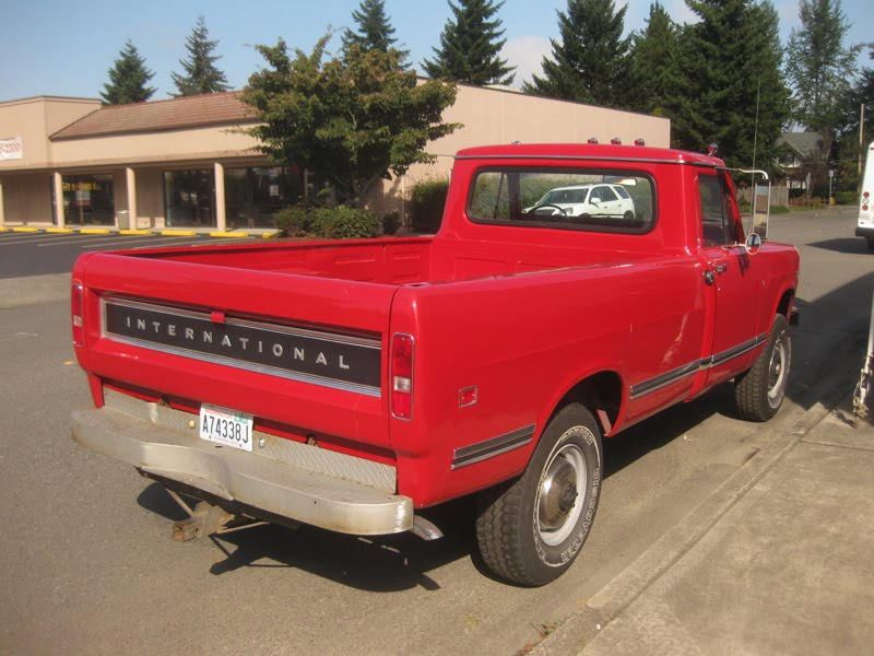 Old International Harvester : Old parked cars international harvester pickup