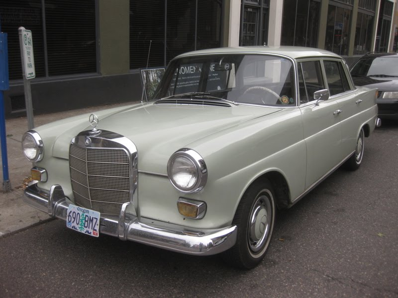 old parked cars 1966 mercedes benz 200 diesel