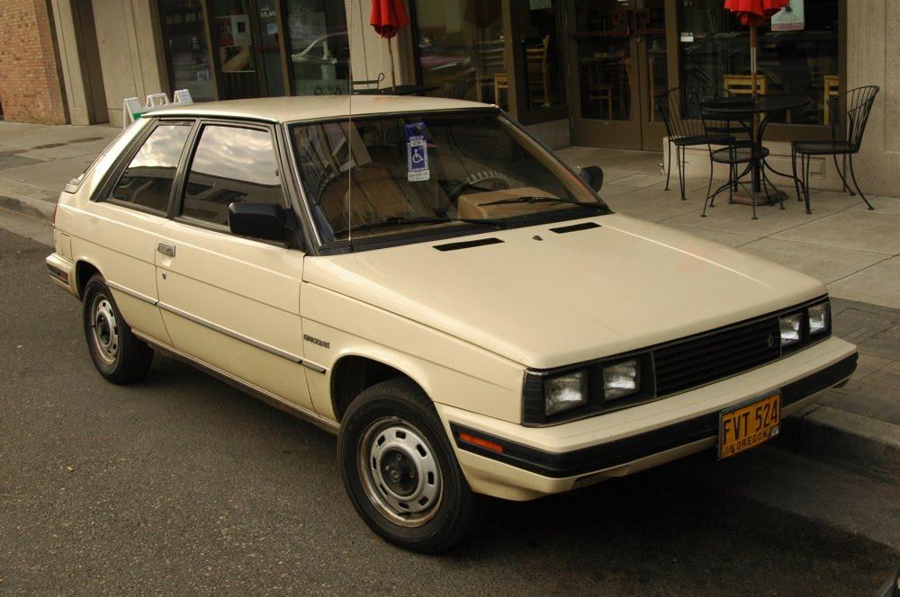 OLD PARKED CARS.: 1984 Renault Encore Hatchback.