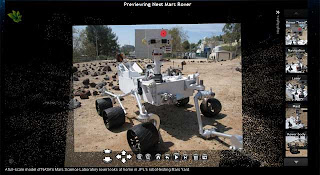 This is a view of a model of the Mars Science Lab in Photosynth.