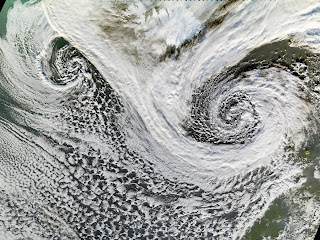 Extratropical Cyclones near Iceland.