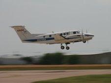 NASA Langley's B200 aircraft