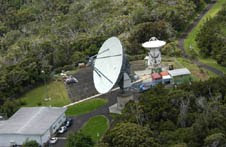A radio telescope at the Kokee Park Geophysical Observatory