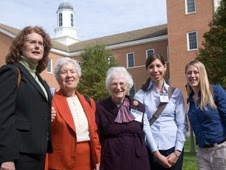 From L to R: Anne Kinney, NASA Goddard Space Flight Center, Greenbelt, Md.; Vera Rubin, Dept. of Terrestrial Magnetism, Carnegie Institute of Washington; Nancy Grace Roman Retired NASA Goddard; Kerri Cahoy, NASA Ames Research Center, Moffett Field, Calif.; Randi Ludwig. University of Texas, Austin, Texas