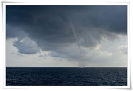 Water funnel at sea