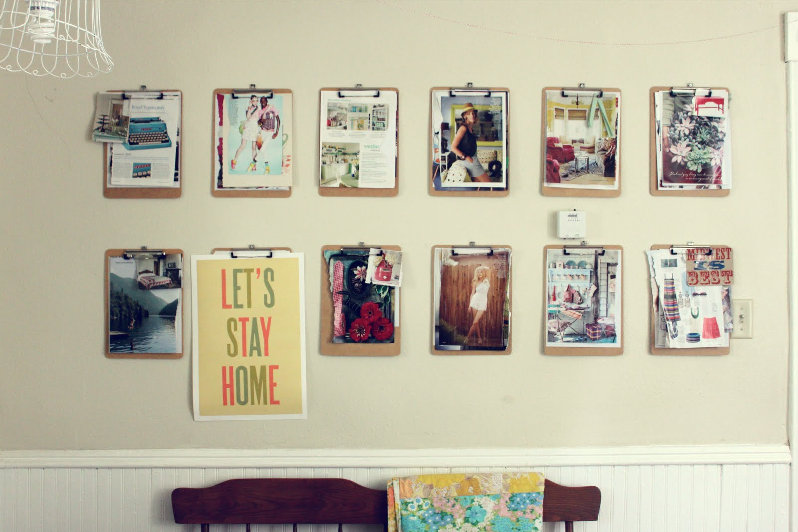 Smile and wave the june inspiration wall for Picture frame with clips diy