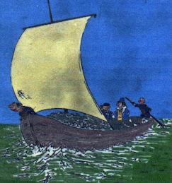Cartoon of Keelboat
