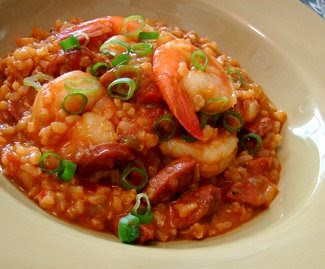 ... Recipes: Creole Sausage and Shrimp Jambalaya with a Side of Newman