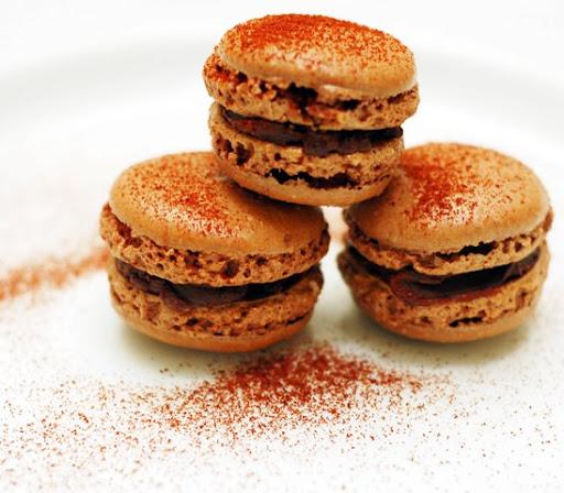 ... Chocolate Macarons with Bittersweet Ancho Chili Ganache from ChezUs