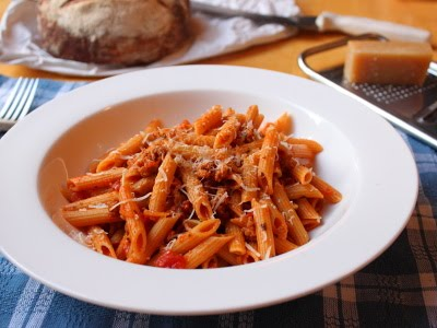 Penne Pasta with Spicy Sausage Ragu – If You're Not Cheating, You're ...