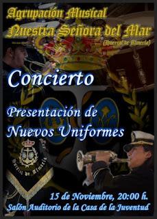 """La Agrupación """"Ntra. Sra. del Mar"""" presentará sus nuevos uniformes en un concierto"""