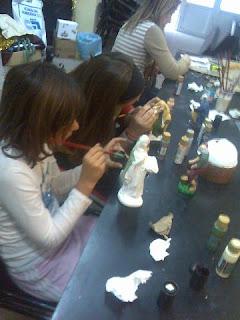 El taller de manualidades del Perdón comienza a montar el Belén