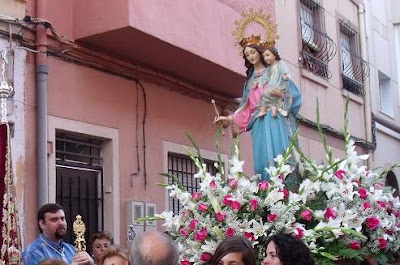 La imagen de María Auxiliadora saldrá mañana en Rosario de la Aurora