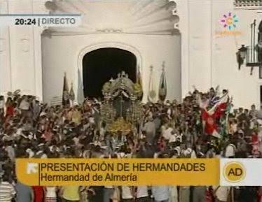 La Hermandad de Almería se presenta ante la Matriz de Almonte