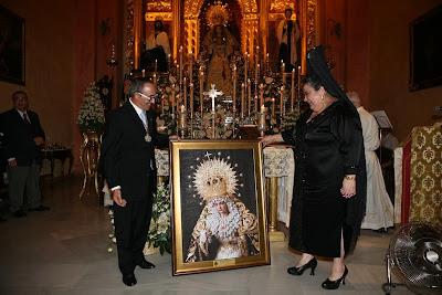 La Virgen de la Merced ya 'protege' a la asociación de Lupus de Almería