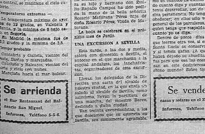 Una marcha del maestro Barco para Sevilla en la Semana Santa de 1935