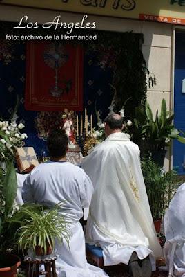 Esta tarde procesión eucarística en los Ángeles