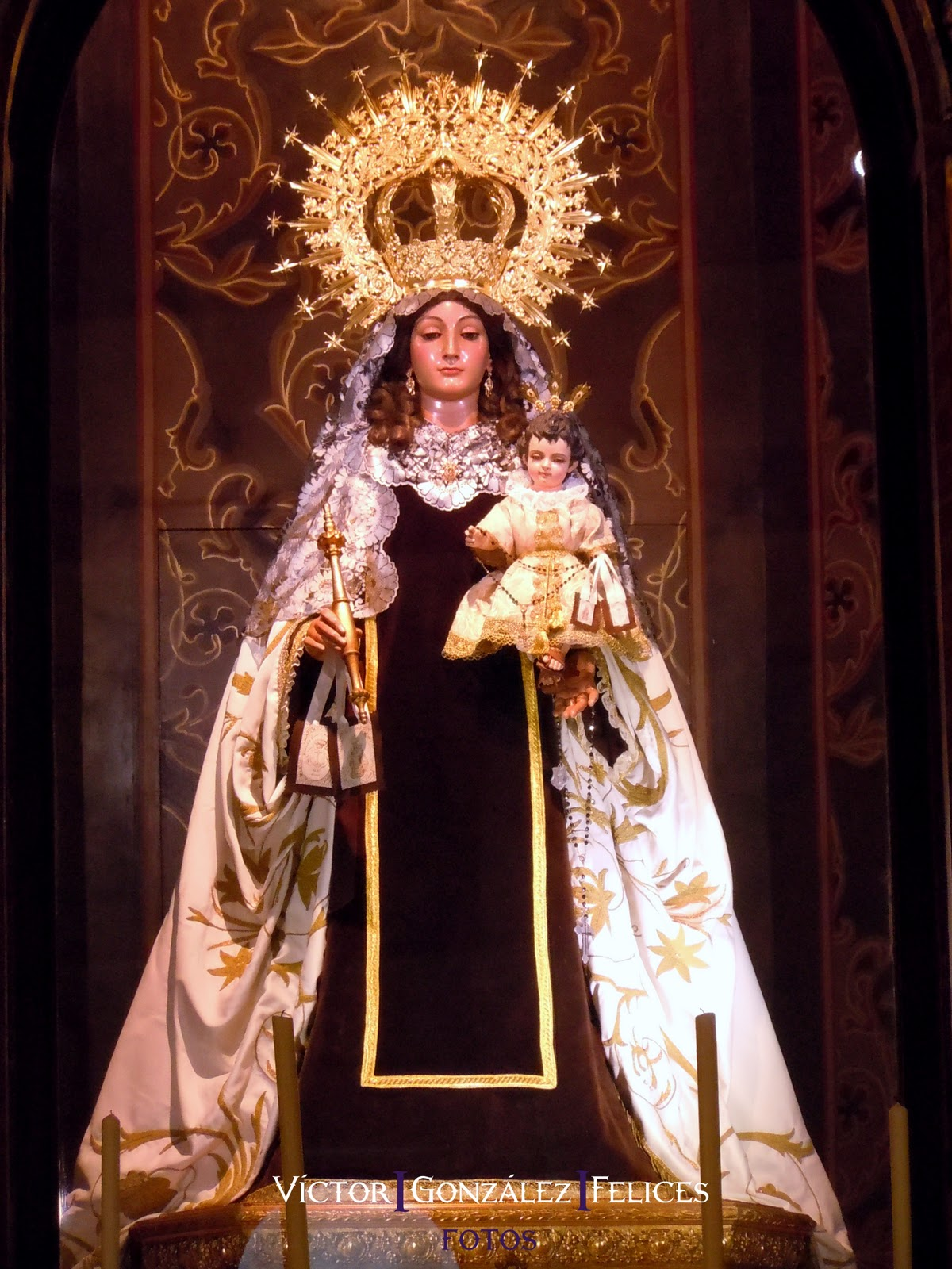 La Virgen del Carmen de San Sebastián de luto
