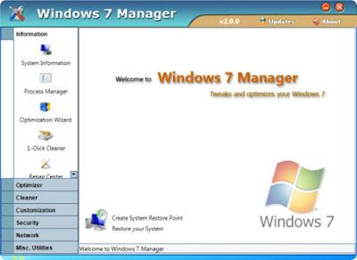Yamicsoft Windows 7 Manager 2.0.1