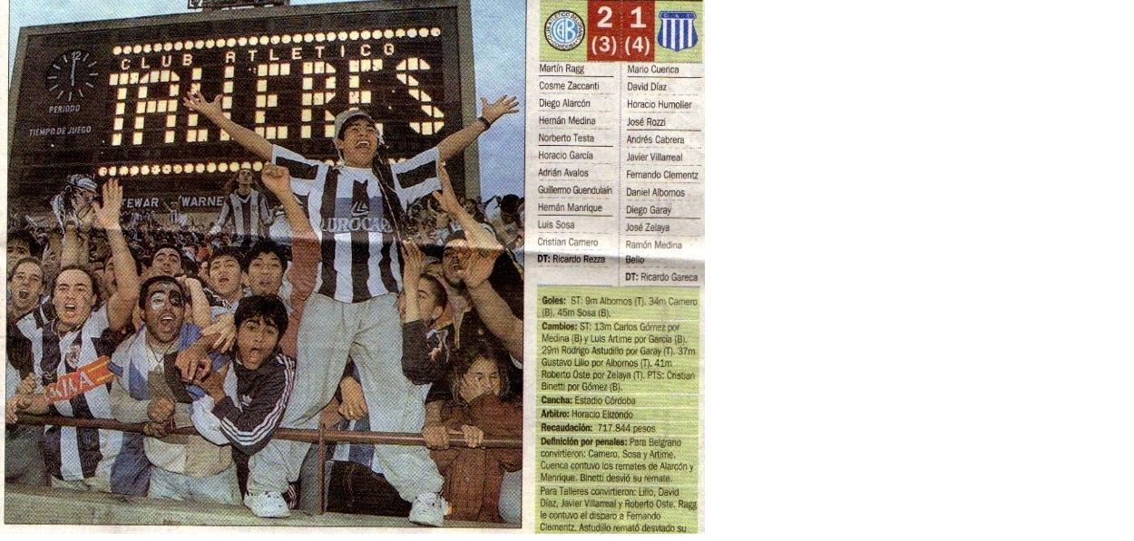 Clarin 1998 , Talleres Campeon!