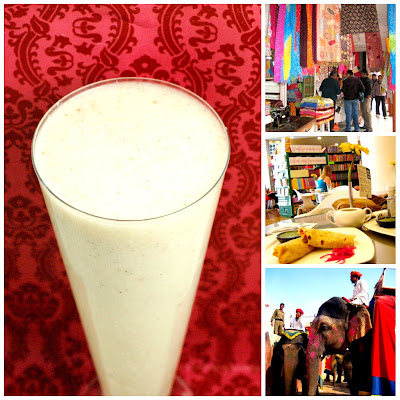 Lychee lassi recipe and photos of travels in India