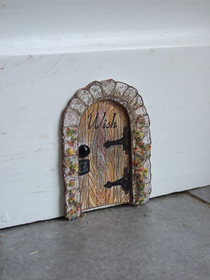 Made by joanne tiny fairy door for The works fairy door