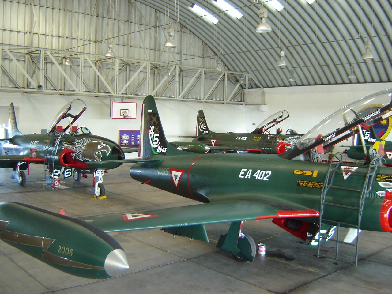T-33 Fuerza Aerea Mexicana - Página 4 T-33+EN+HANGAR