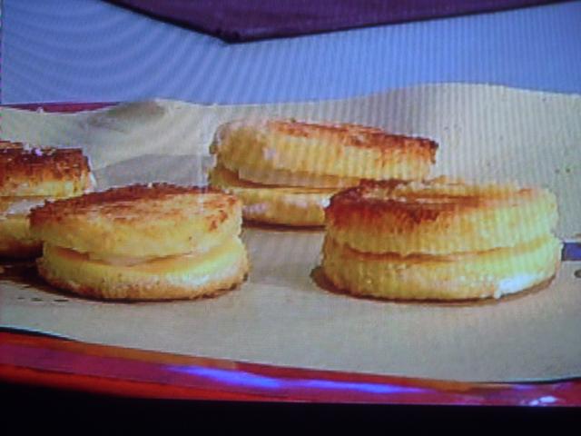 Medaglioni di polenta con taleggio (SOLDI DI POLENTA) di Anna Moroni