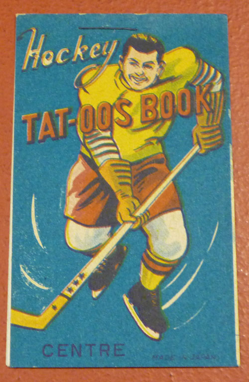 1950s Hockey Tattoo Book. Here's an odd book I found listed on eBay: It's a