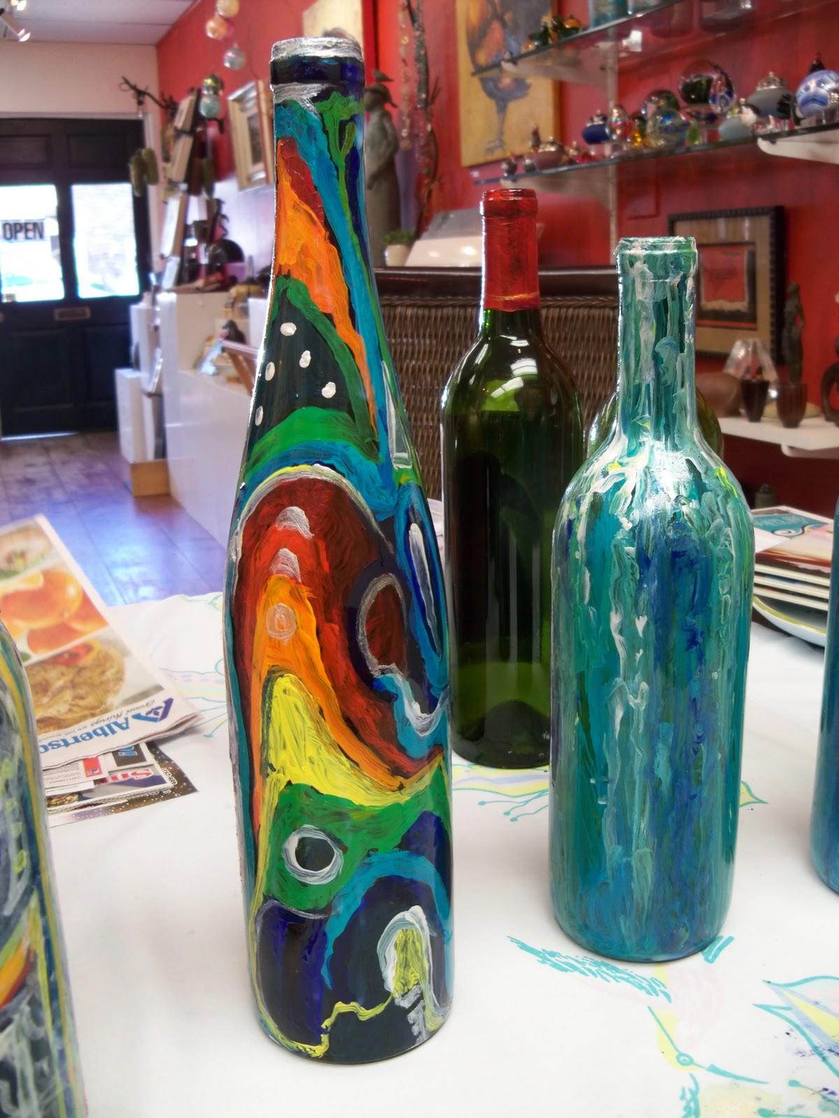 Susan jenkins morning paintings wine bottle painting for for Painting of a wine bottle