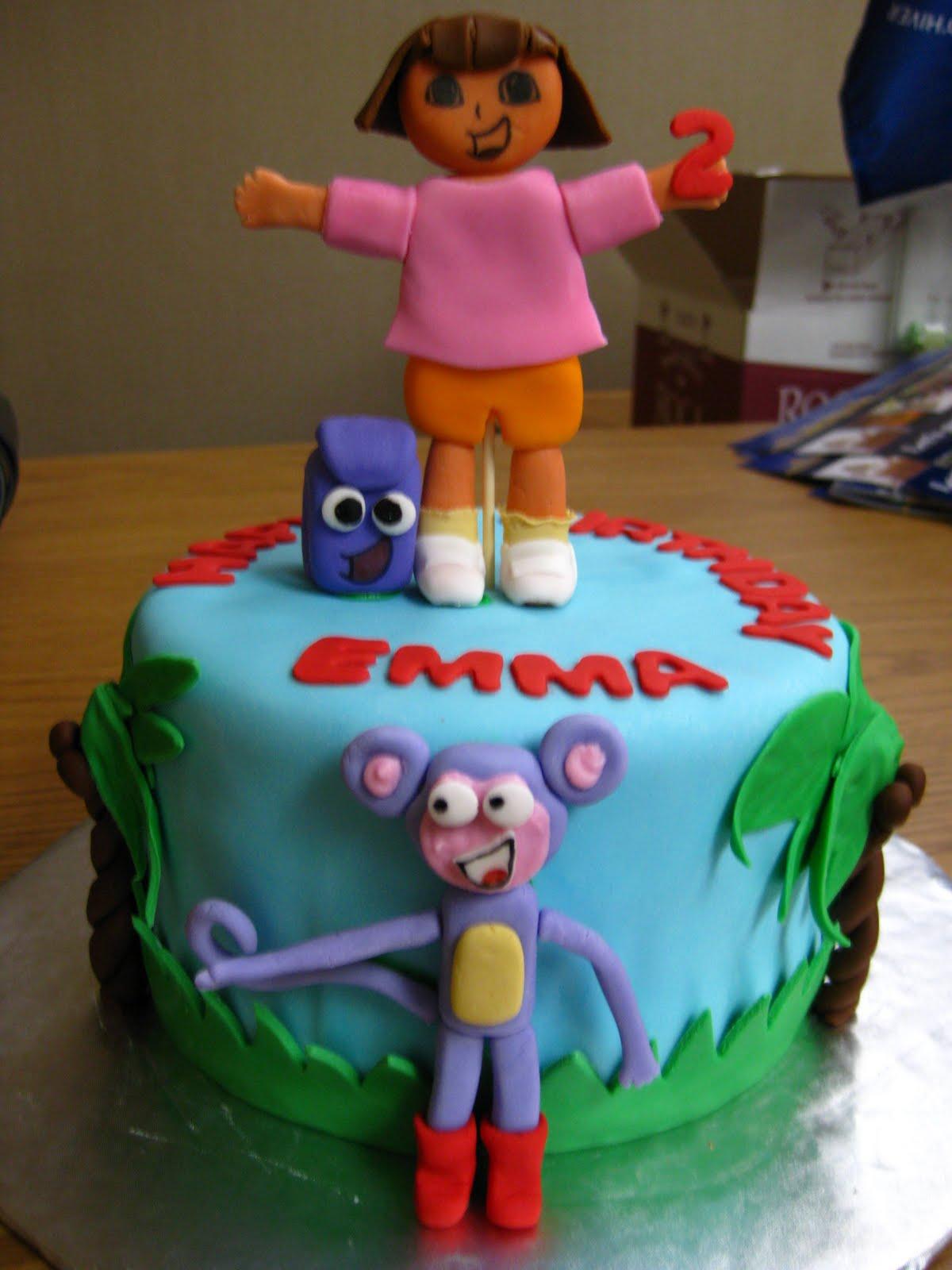 how to make a dora the explorer cake